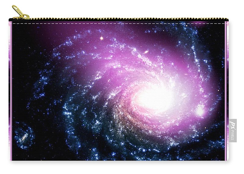 Galaxy Carry-all Pouch featuring the photograph Nasa Dwarf Galaxy Hitting A Spiral Galaxy by Rose Santuci-Sofranko