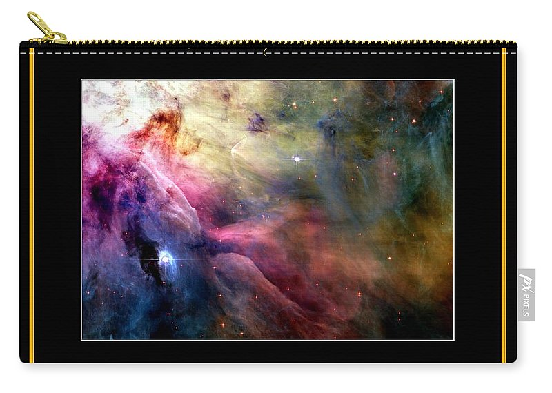 Nasa Carry-all Pouch featuring the photograph Nasa Ll Ori And The Orion Nebula Stars Of Heaven Bless The Lord by Rose Santuci-Sofranko
