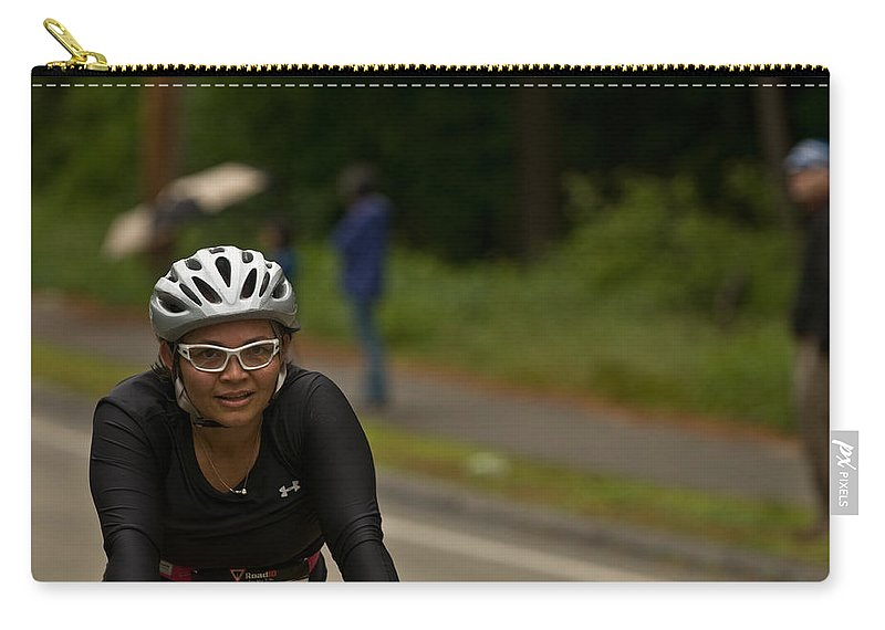 """nashua Sprint Y-triathlon"" Carry-all Pouch featuring the photograph Nashua Sprint Y-tri 188 by Paul Mangold"
