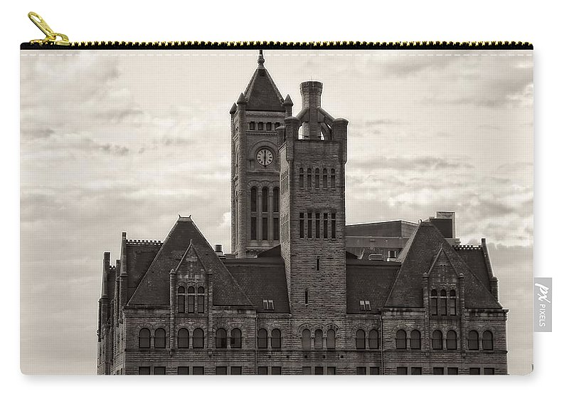 Nashville's Union Station Carry-all Pouch featuring the photograph Nashville's Union Station by Dan Sproul