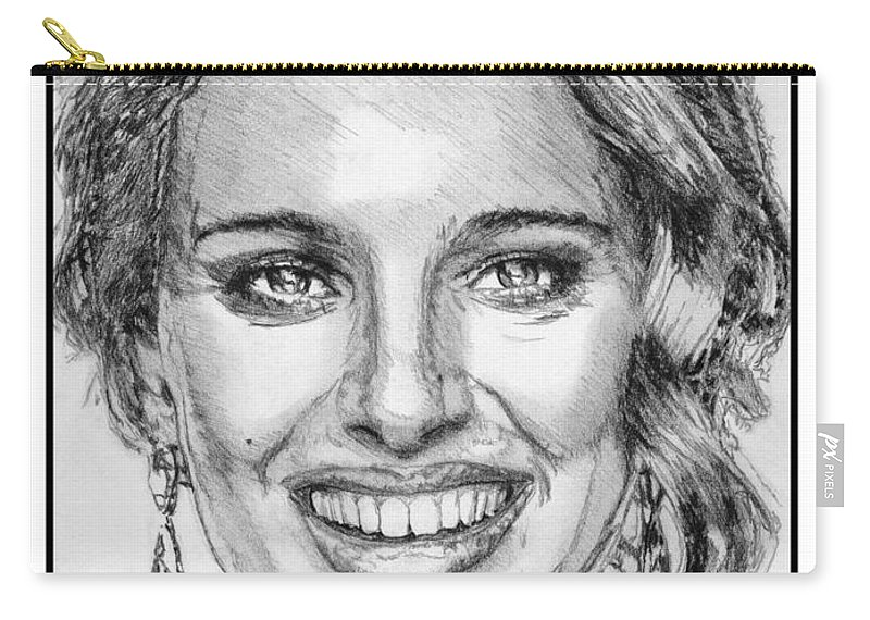 Mccombie Carry-all Pouch featuring the drawing Natalie Portman In 2011 by J McCombie