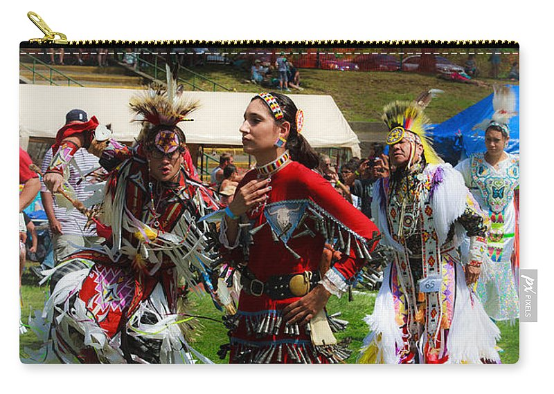 Native American Carry-all Pouch featuring the photograph Native American Dancers by Eleanor Abramson