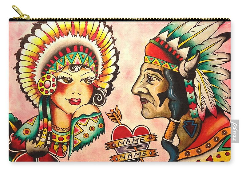 Native Carry-all Pouch featuring the painting Native Flash Sheet by Britt Kuechenmeister