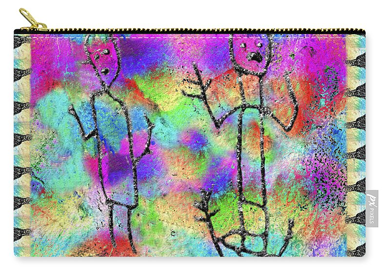 Petroglyph Carry-all Pouch featuring the photograph Native Legends II by Kurt Van Wagner