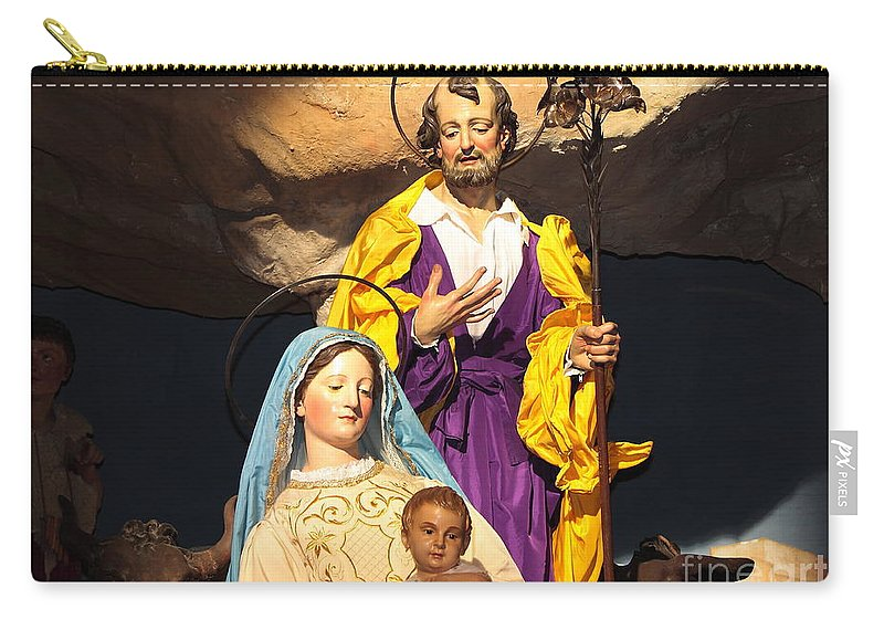 Baby Carry-all Pouch featuring the photograph Christmas Nativity Scene by Stefano Senise