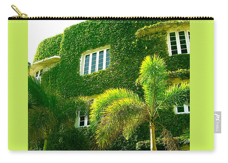 Ivy Prints Carry-all Pouch featuring the photograph Natural Ivy House by Monique's Fine Art