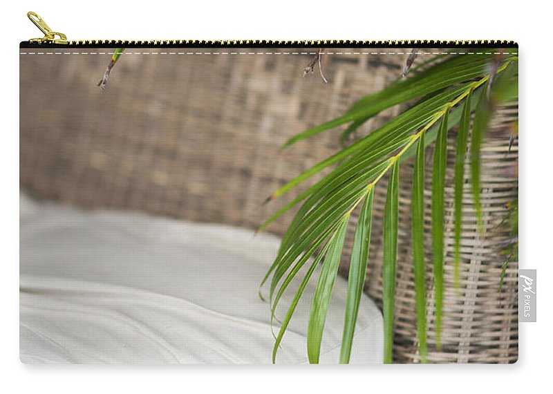 Asia Carry-all Pouch featuring the photograph Natural Materials Furniture Detail by Jacek Malipan