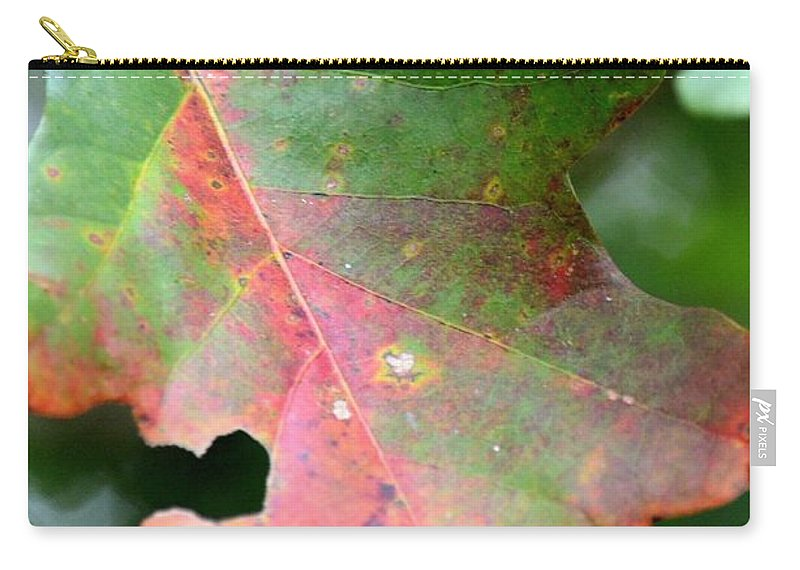 Natural Oak Leaf Abstract Carry-all Pouch featuring the photograph Natural Oak Leaf Abstract by Maria Urso