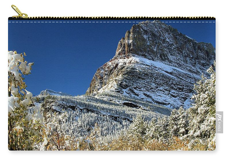 Grinnell Point Carry-all Pouch featuring the photograph Natural Picture Frame by Adam Jewell