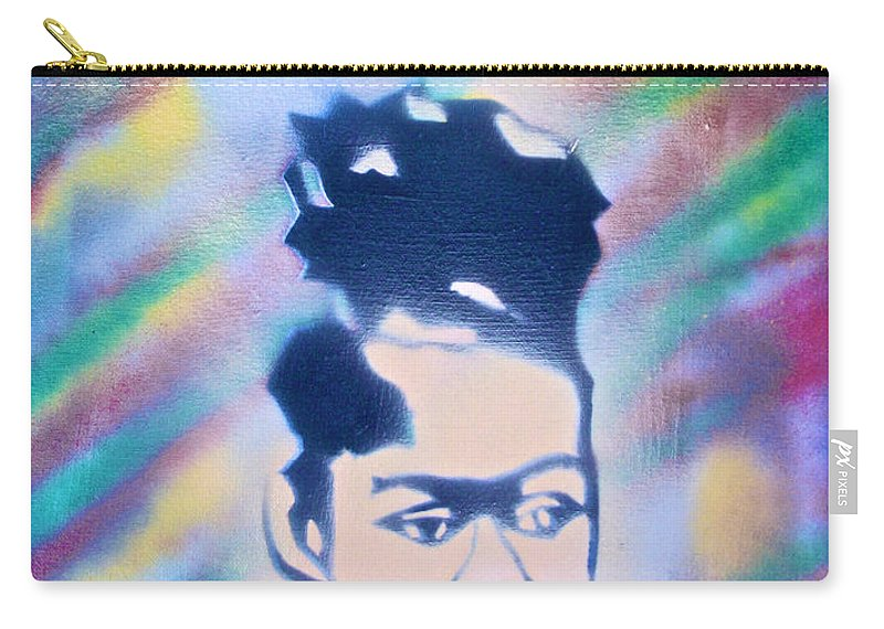 Black Carry-all Pouch featuring the painting Natural Princess by Tony B Conscious