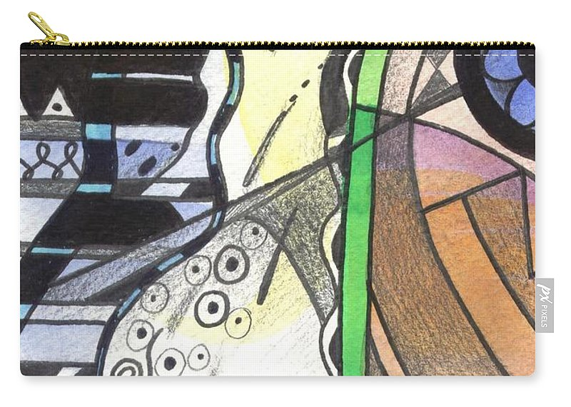 Abstract Carry-all Pouch featuring the painting Nature And Nurture by Helena Tiainen
