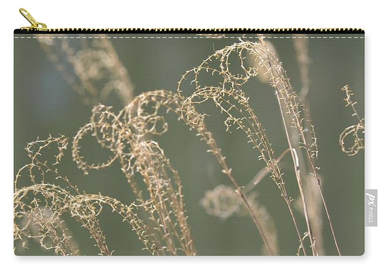 Nature Curls 2013 Carry-all Pouch featuring the photograph Nature Curls 2013 by Maria Urso