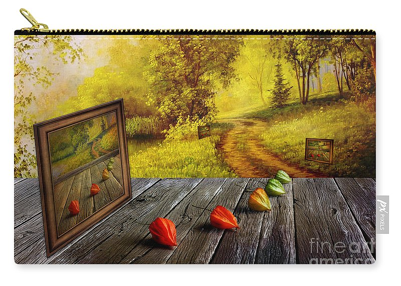 Artist Carry-all Pouch featuring the digital art Nature Exhibition by Veikko Suikkanen