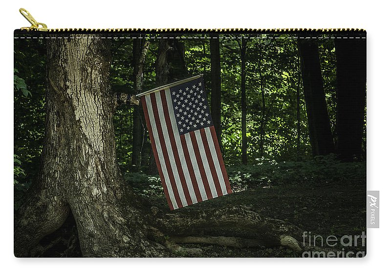 Flag Carry-all Pouch featuring the photograph Nature Proud by Ronald Grogan