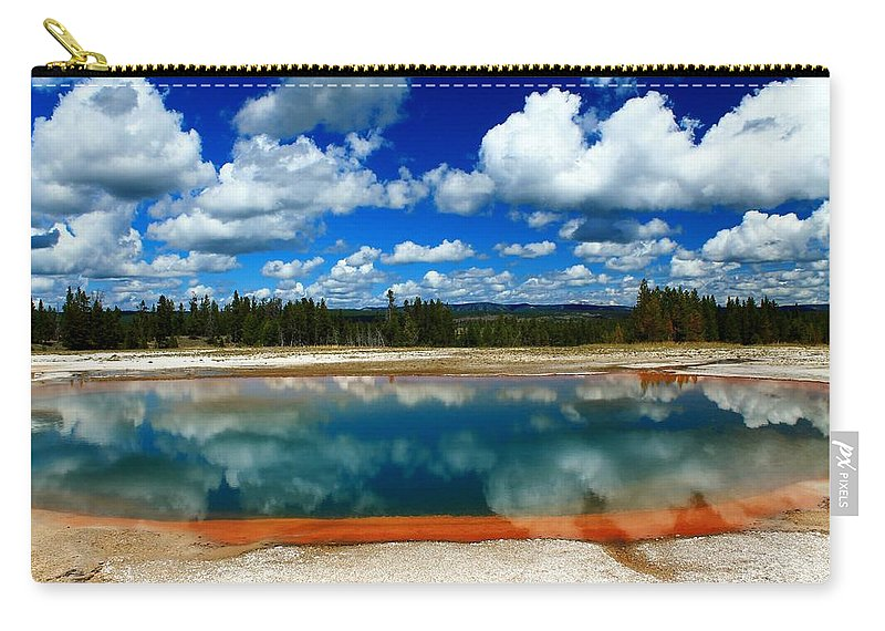 Yellowstone National Park Carry-all Pouch featuring the photograph Nature's Beauty by Catie Canetti