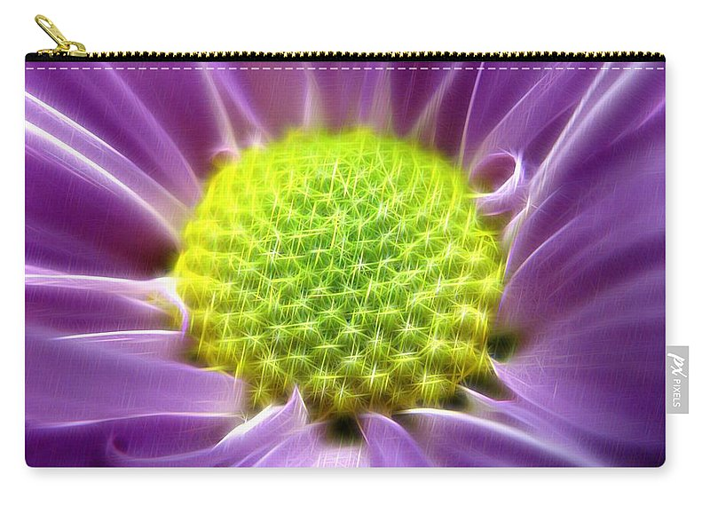 Photo Carry-all Pouch featuring the digital art Nature's Bling by Rhonda Barrett