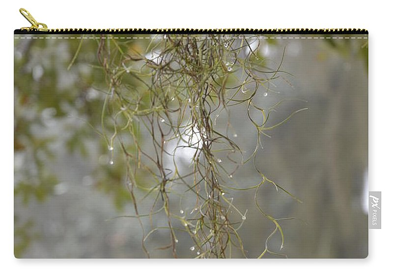 Dew Drops Carry-all Pouch featuring the photograph Nature's Diamonds by Xyldia Grace