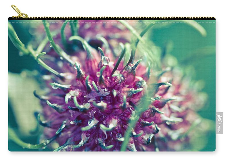 Green Carry-all Pouch featuring the photograph Nature's Fury by Shane Holsclaw