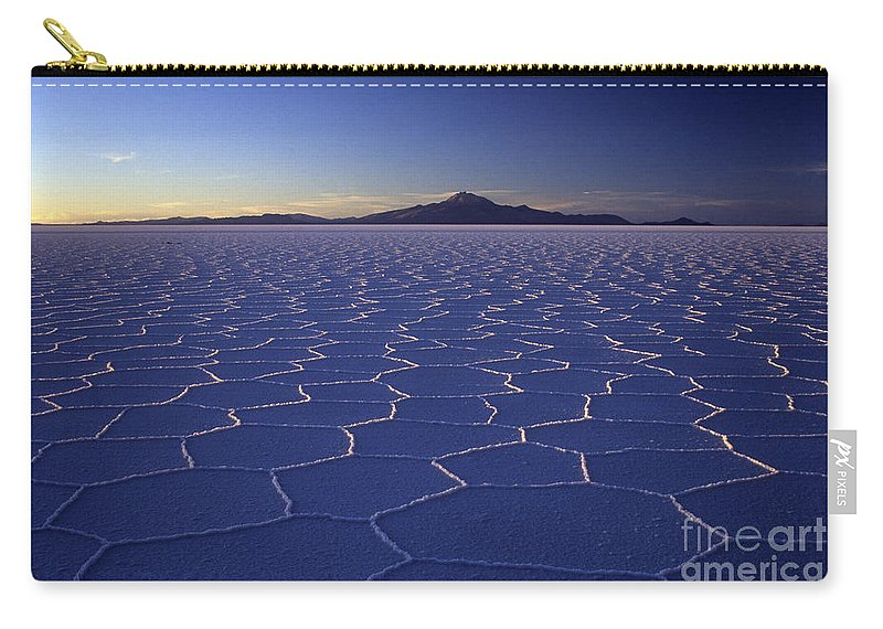 Salar De Uyuni Carry-all Pouch featuring the photograph Natures Geometry Salar De Uyuni by James Brunker