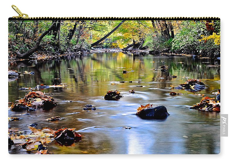 Season Carry-all Pouch featuring the photograph Natures Mood Lighting by Frozen in Time Fine Art Photography