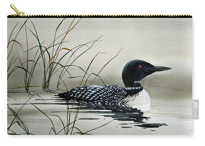 Loon Prints Carry-all Pouch featuring the painting Nature's Serenity by James Williamson