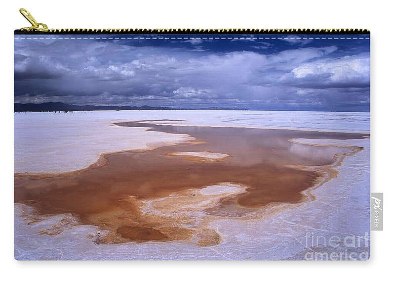 Bolivia Carry-all Pouch featuring the photograph Natures Watercolours On The Salar De Uyuni by James Brunker