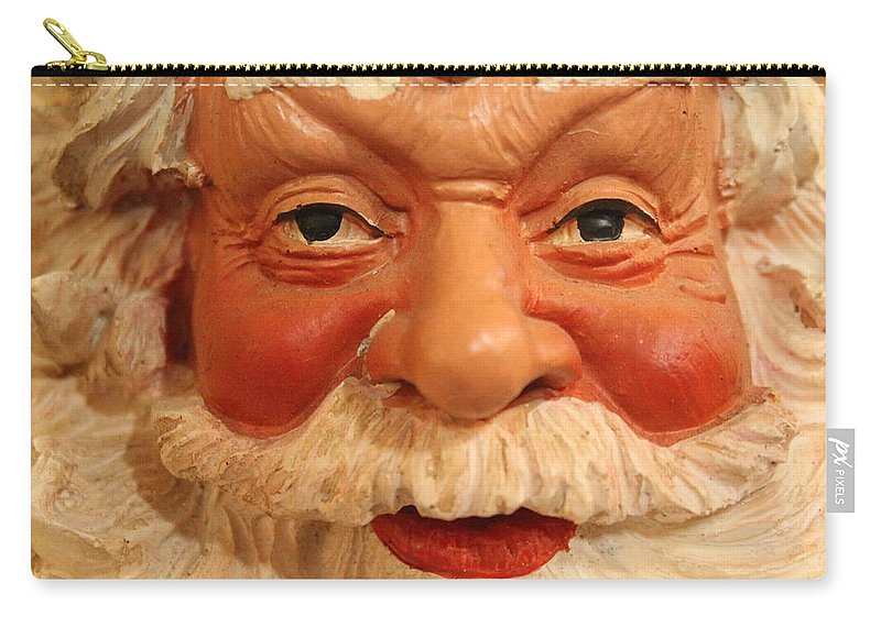 Santa Carry-all Pouch featuring the photograph Naughty Or Nice by Lynn Sprowl