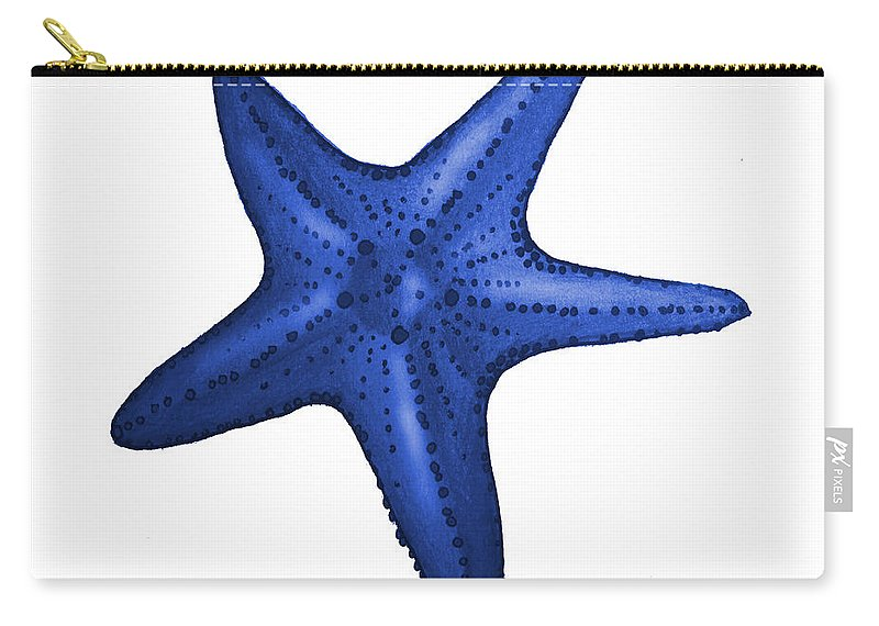 Nautical Carry-all Pouch featuring the digital art Nautical Blue Starfish by Michelle Eshleman