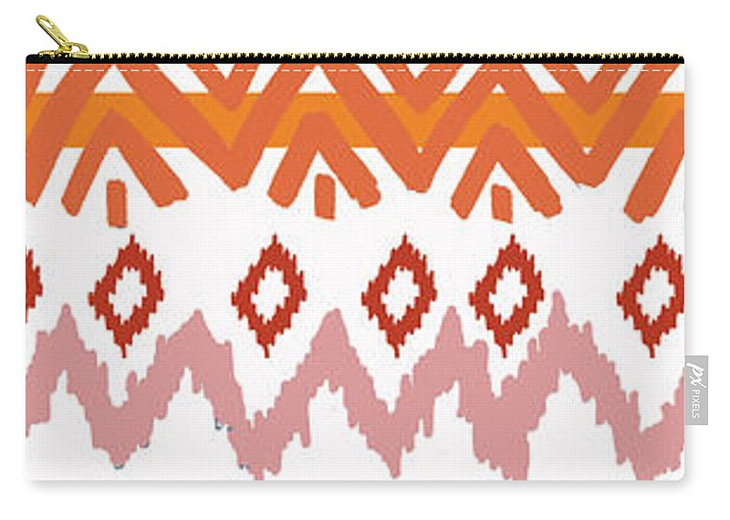 Navajo Carry-all Pouch featuring the digital art Southwest Pattern III by Nicholas Biscardi