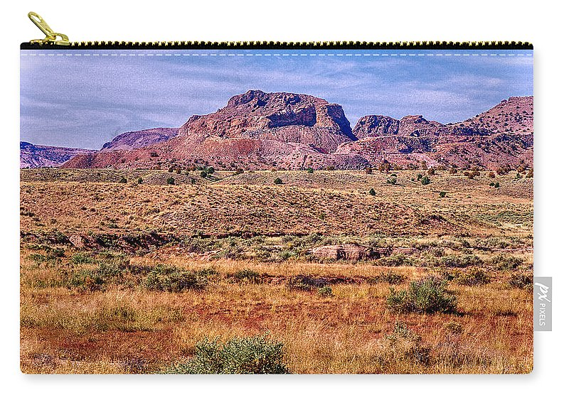 Arizona Carry-all Pouch featuring the digital art Navajo Nation Series 2 by Bob and Nadine Johnston