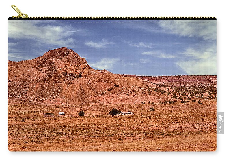 Anasazi Carry-all Pouch featuring the photograph Navajo Nation Series Along Arizona Highways by Bob and Nadine Johnston