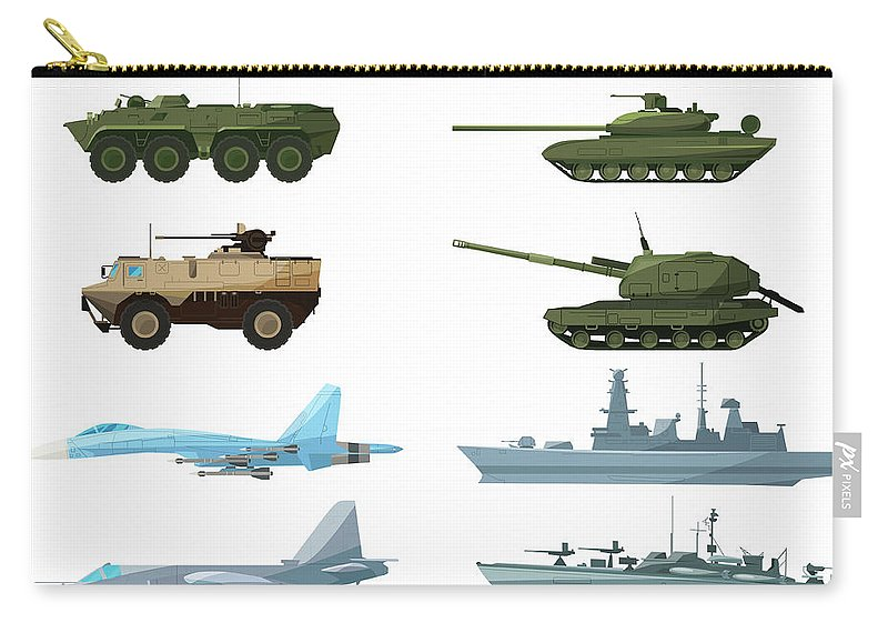 Insect Carry-all Pouch featuring the digital art Naval Vehicles, Airplanes And Different by Onyxprj