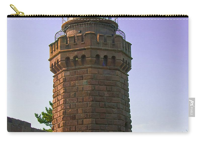 Lighthouses Carry-all Pouch featuring the photograph Navesink Twin Lights Lighthouse by Anthony Sacco