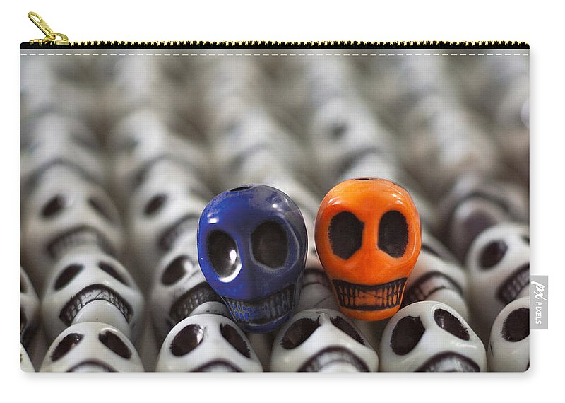 Smiles Carry-all Pouch featuring the photograph Navy Blue And Orange by Mike Herdering