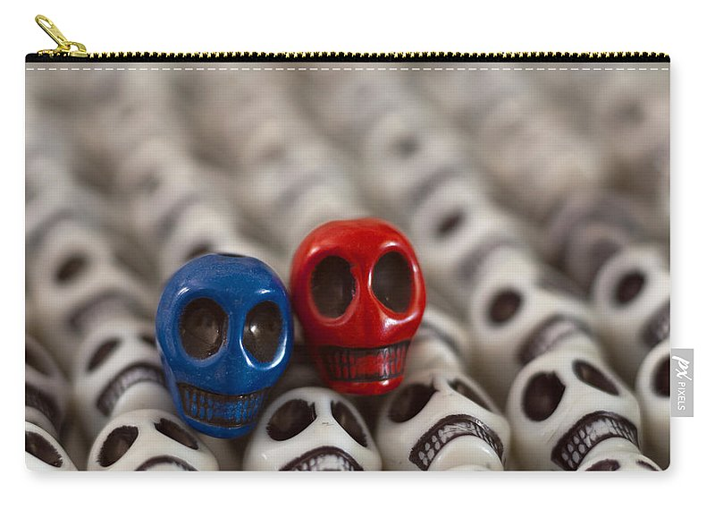 Smiles Carry-all Pouch featuring the photograph Navy Blue And Red by Mike Herdering