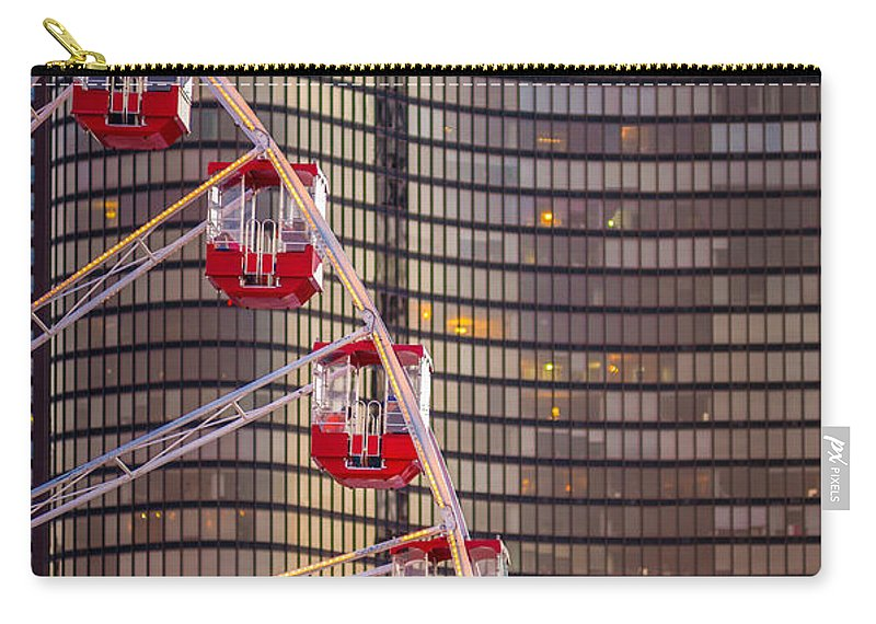Ferris Carry-all Pouch featuring the photograph Navy Pier Wheel Chicago by Steve Gadomski