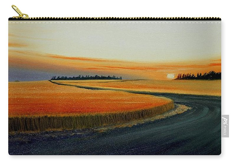 Wheat Carry-all Pouch featuring the painting Near Moscow by Leonard Heid