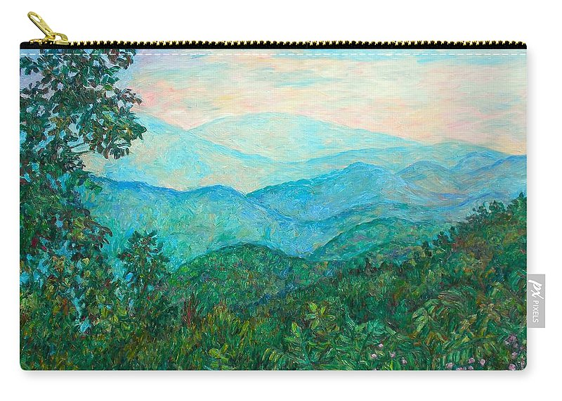 Landscape Carry-all Pouch featuring the painting Near Purgatory by Kendall Kessler
