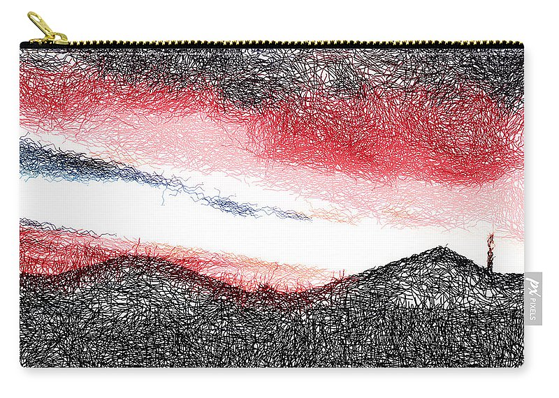 Home Carry-all Pouch featuring the digital art Nearly Home by Steve Taylor