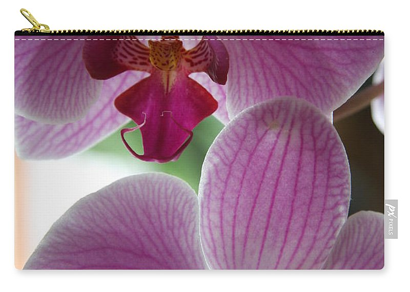 Orchid Carry-all Pouch featuring the photograph Neat Faces by Christiane Schulze Art And Photography