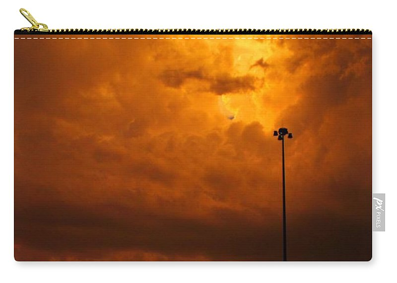 Fire Carry-all Pouch featuring the photograph Nebraska Fire by Marcelo Albuquerque