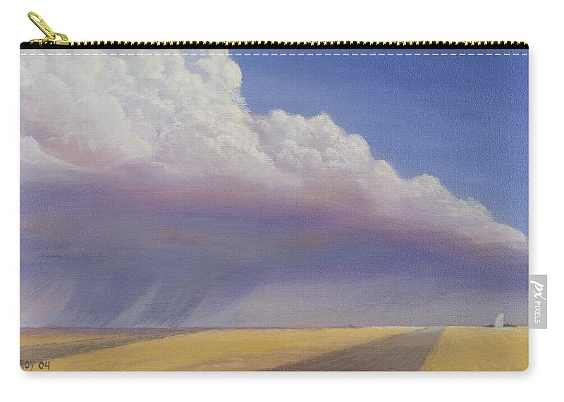 Landscape Carry-all Pouch featuring the painting Nebraska Vista by Jerry McElroy