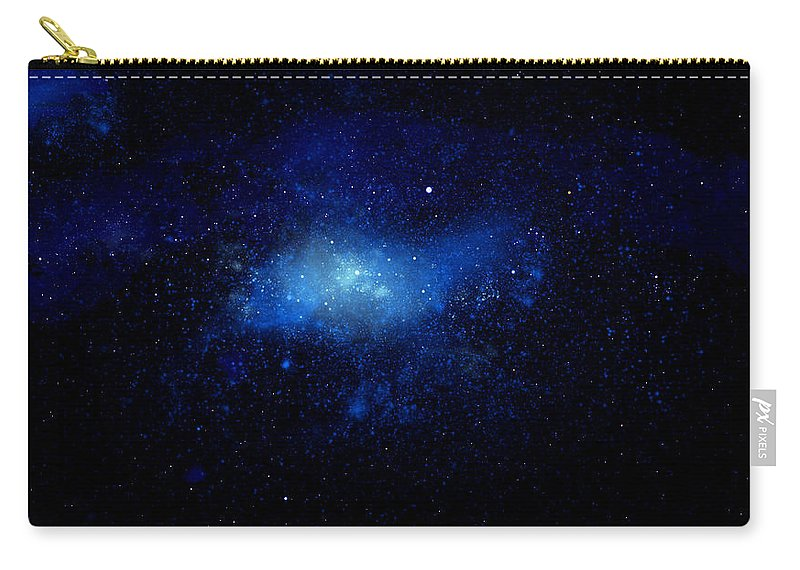 Nebula Ceiling Mural Carry-all Pouch featuring the painting Nebula Ceiling Mural by Frank Wilson