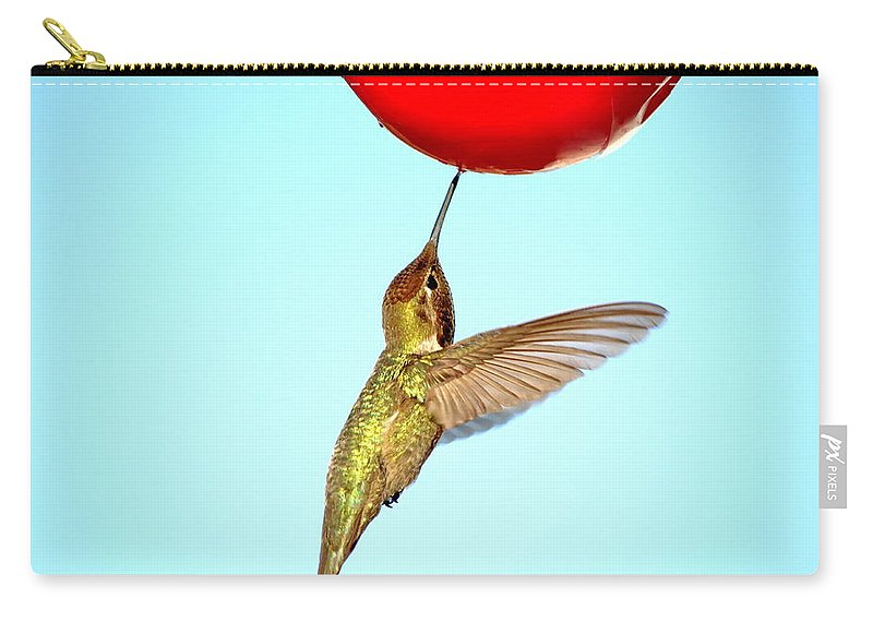 Animal Carry-all Pouch featuring the photograph Nectar Good To The Last Drop by Ron D Johnson