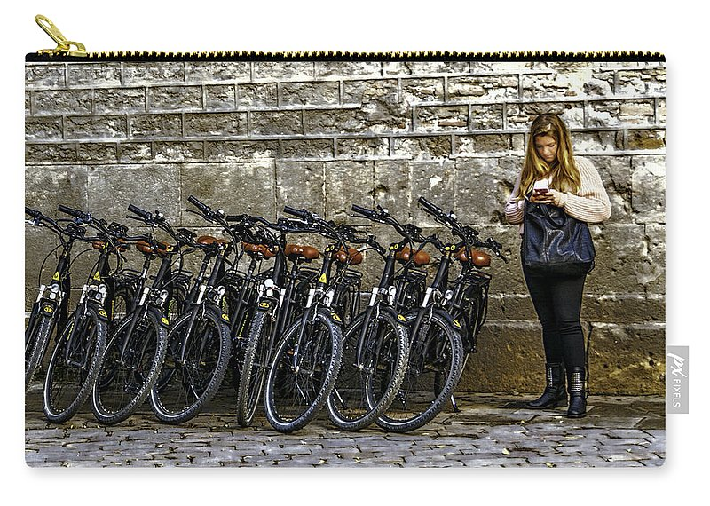 Young Carry-all Pouch featuring the photograph Need A Ride by Maria Coulson