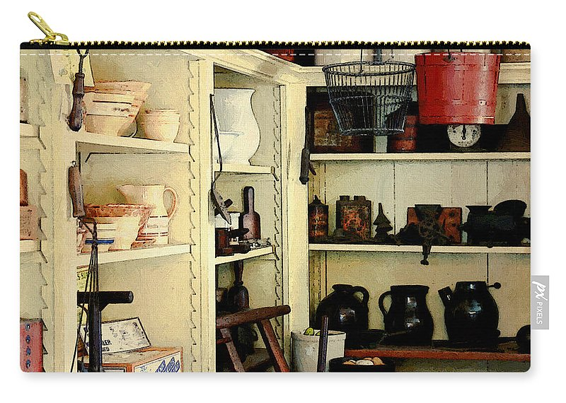Antiques Carry-all Pouch featuring the painting Needful Things by RC deWinter