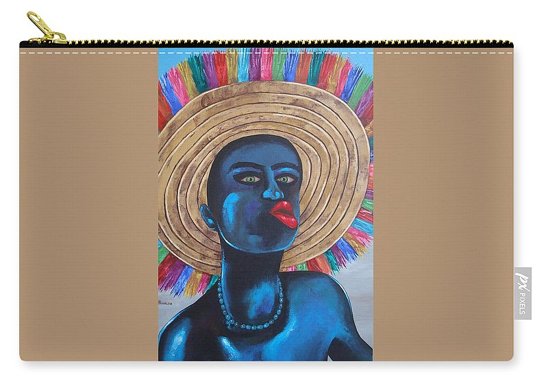 Carnival Carry-all Pouch featuring the painting Negrito In Carnival by Yaso Rivaldo