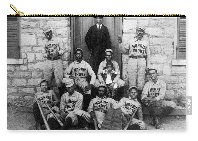 1900 Carry-all Pouch featuring the photograph Negro Baseball by Granger