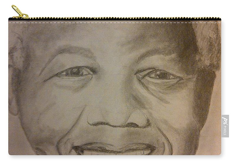 President Of South Africa Carry-all Pouch featuring the painting Nelson Mandela by Irving Starr
