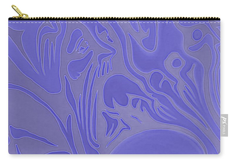 Neon Intensity Carry-all Pouch featuring the painting Neon Intensity by Michael TMAD Finney